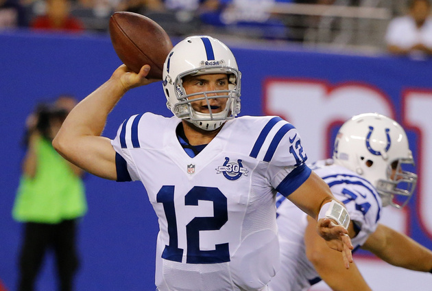 Andrew Luck looks really good in the preseason, which should ha…