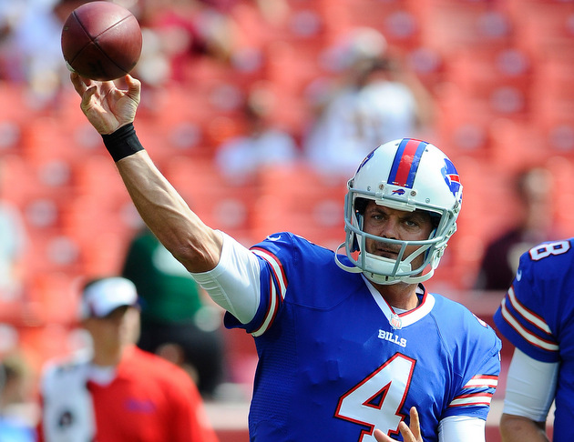 Quarterback Kevin Kolb leaves game for Buffalo Bills with concu…