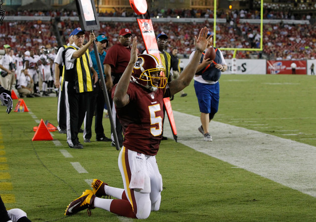 Pat White has made the Washington Redskins' roster … for now