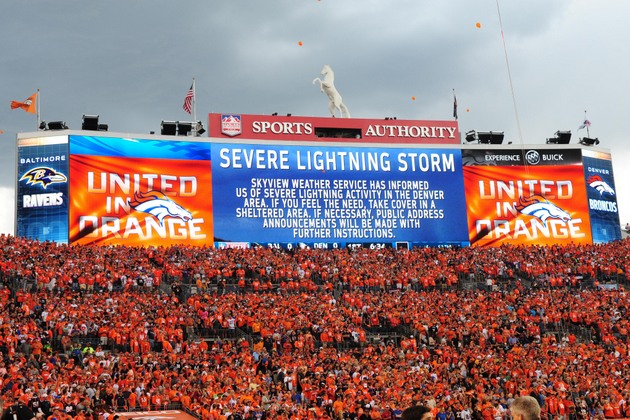A lightning storm delays the long-anticipated start of the NFL …