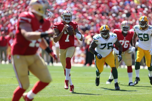 Colin Kaepernick dominates the Packers once again with 412 pass…