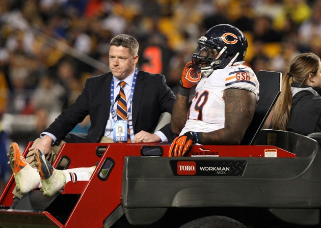Chicago Bears defensive tackle Henry Melton gone for the season…