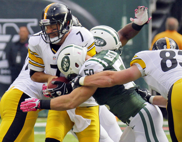 New Steelers left tackle Levi Brown gets hurt during warmups … …