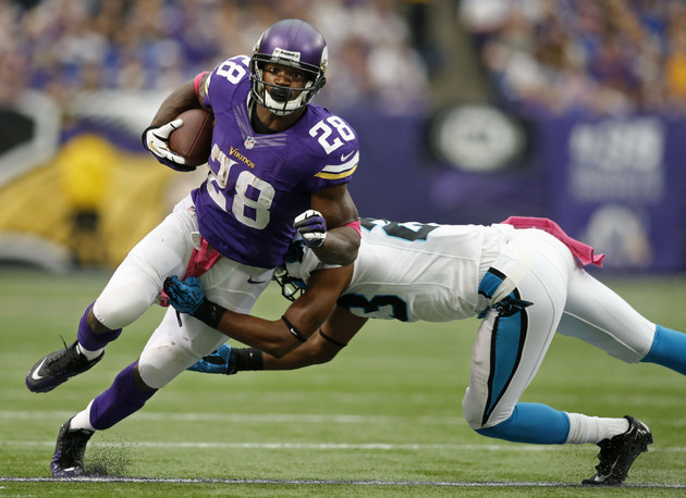 Adrian Peterson plays well after son's death, but Vikings lose …
