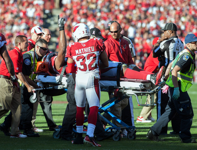 Source: Calais Campbell doing well after scary injury, taking 4…