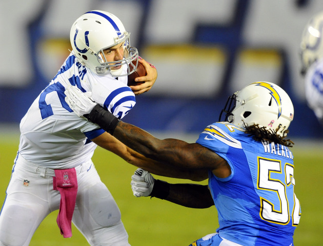 Chargers grind out win over Colts