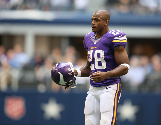 Adrian Peterson says he has thought about finishing his career …