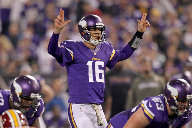 Christian Ponder out with concussion; Matt Cassel, not Josh Fre…