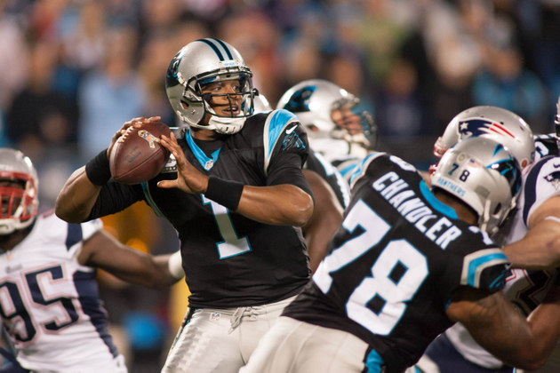 Cam Newton leads the Panthers on a fantastic game-winning drive…