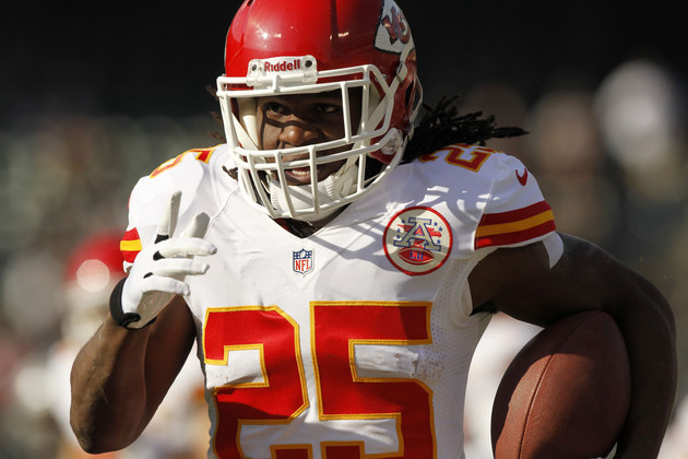 Kansas City Chiefs running back Jamaal Charles out for game aft…