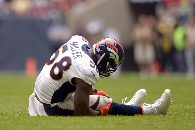 Von Miller will get tests on knee injury Monday, concern the in…