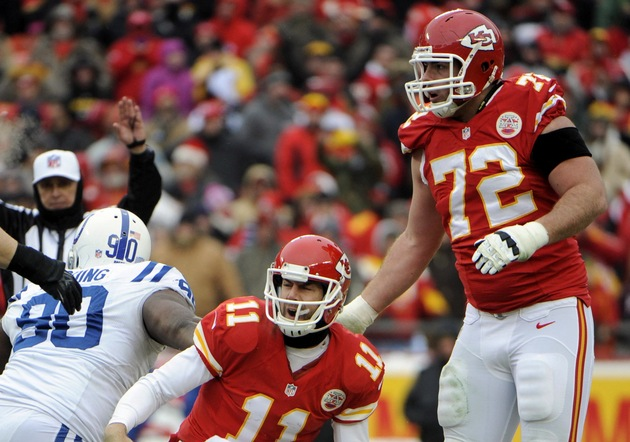 Kansas City Chiefs might need to shuffle offensive line as they…