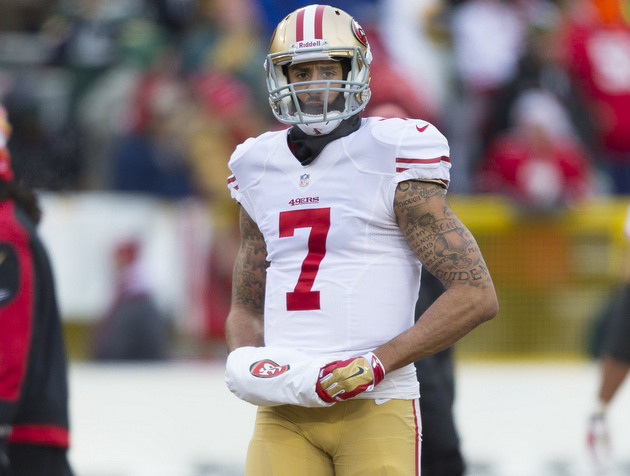 Colin Kaepernick, perhaps in a fit of insanity, playing with ar…