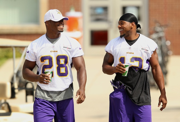 Adrian Peterson is not happy about the Percy Harvin trade