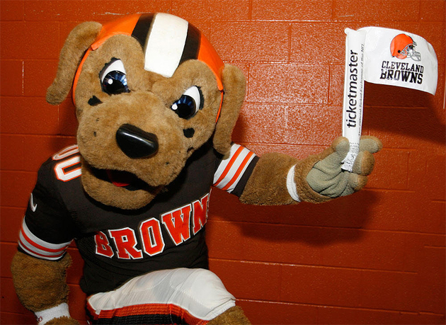 The Cleveland Browns will give out white flags on Sunday