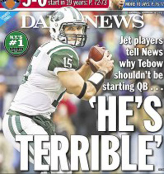 Tim Tebow is 'terrible': Jets teammates, officials rip the hera…