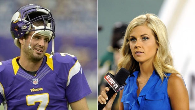 Quick snap: Vikings' Ponder, ESPN's Steele wed on Monday aftern…
