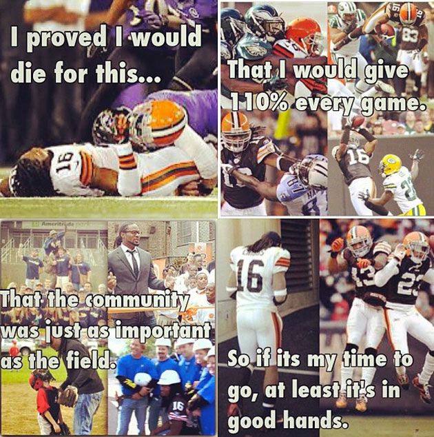 Josh Cribbs offers up a classy Instagram farewell to the city o…