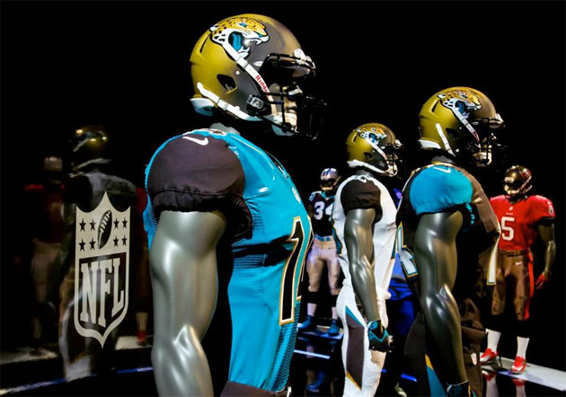 Jacksonville Jaguars' new uniforms are extreme! Awesome! And ot…