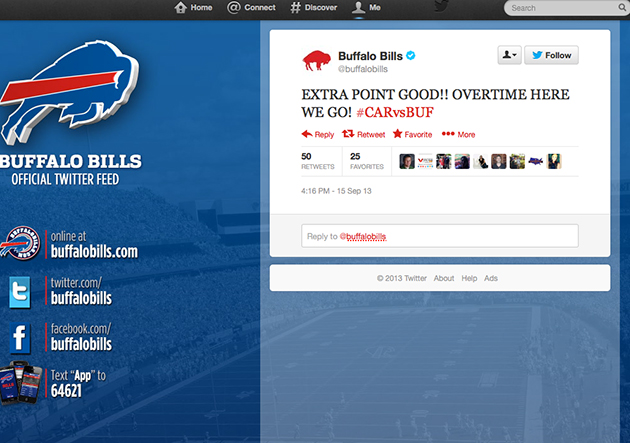 Buffalo's Twitter page doesn't realize Bills actually beat Caro…