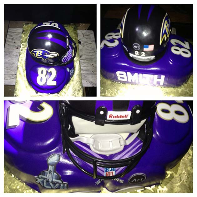 Torrey Smith's birthday cake was awesome