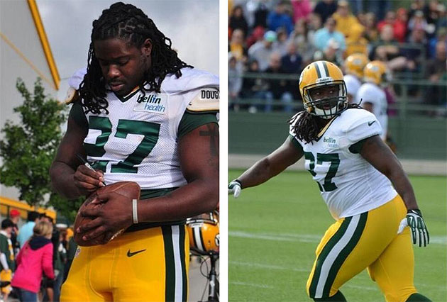 Packers rookie RB Eddie Lacy might have put on a few pounds in …