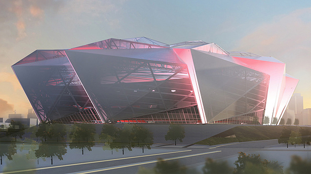 Falcons have initial approval to go forward with futuristic sta…