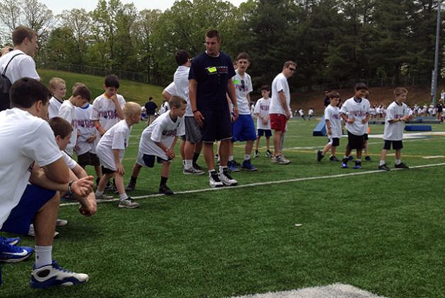 Patriots hold football clinic in Newtown
