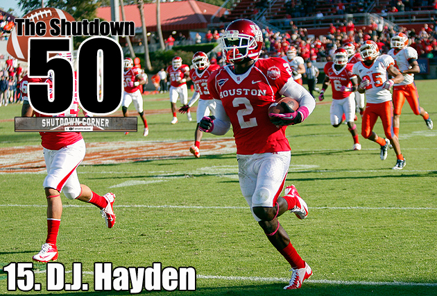 The Shutdown 50: Houston CB D.J. Hayden