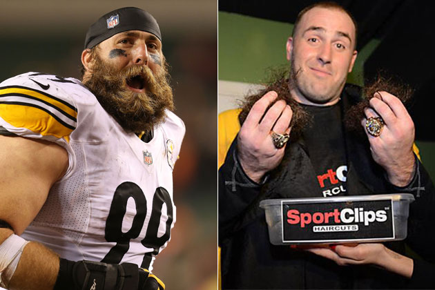 Brett Keisel shaves his beard for charity, confuses at least on…