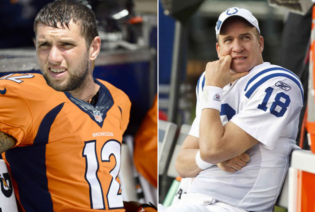 Who wins if Andrew Luck was on the Broncos, and Peyton Manning …