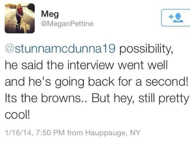 Mike Pettine explains his daughter's unexcited tweet about him …