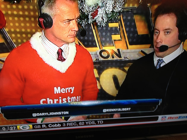 Darryl Johnston's sweater wins the holidays