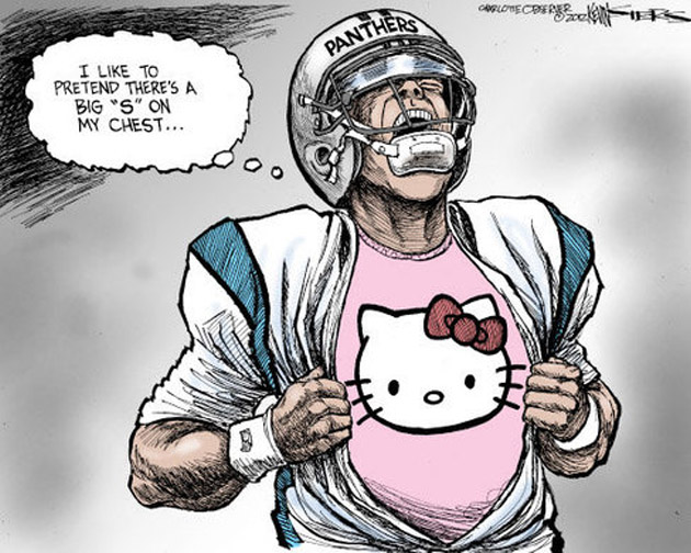 Cam Newton lampooned in Charlotte Observer cartoon