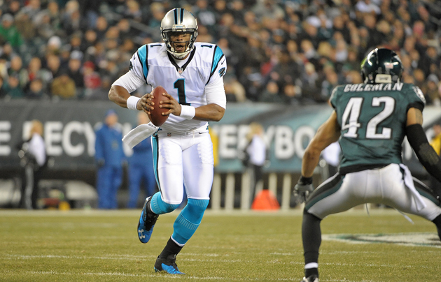 Cam Newton powers Panthers to 30-22 win over the Eagles on Mond…