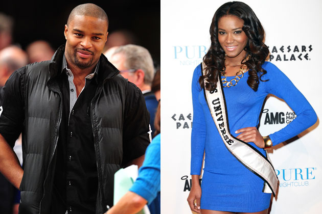 Osi Umenyiora engaged to Miss Universe
