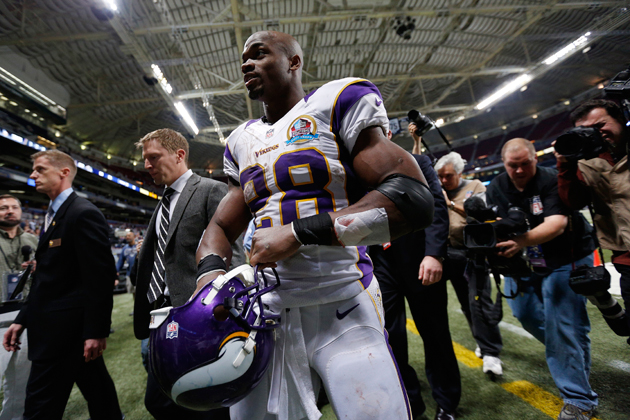 Adrian Peterson ran for over 1,000 yards in seven games … after…