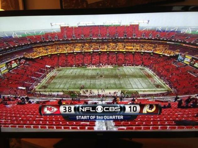 With Chiefs blowing out Redskins, Washington's stadium empties …