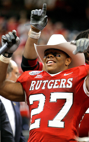 Ray Rice offers support for Rutgers athletic director