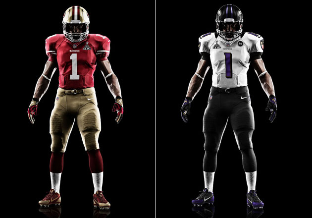 Here are the uniforms the 49ers and Ravens will be wearing for …