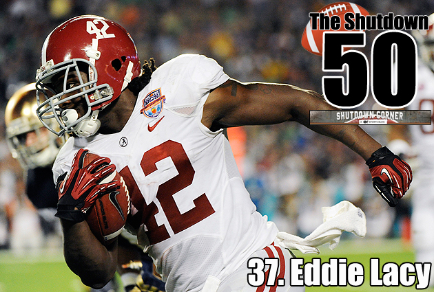 The Shutdown 50: Alabama RB Eddie Lacy