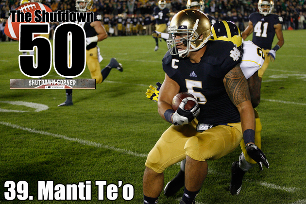 The Shutdown 50: Notre Dame LB Manti Te'o