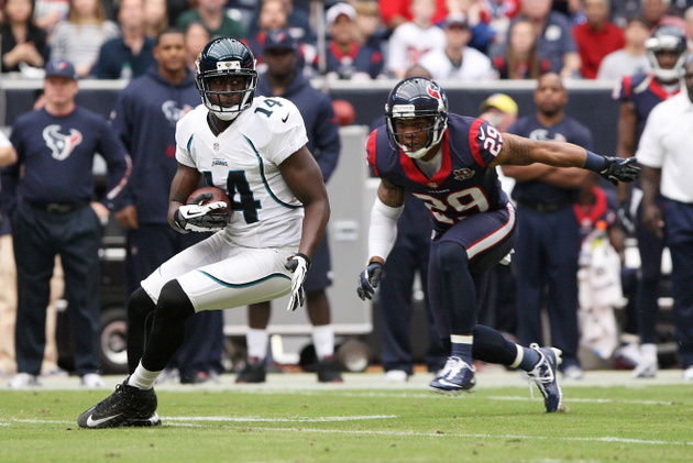 Justin Blackmon arrives in the NFL with a monster day