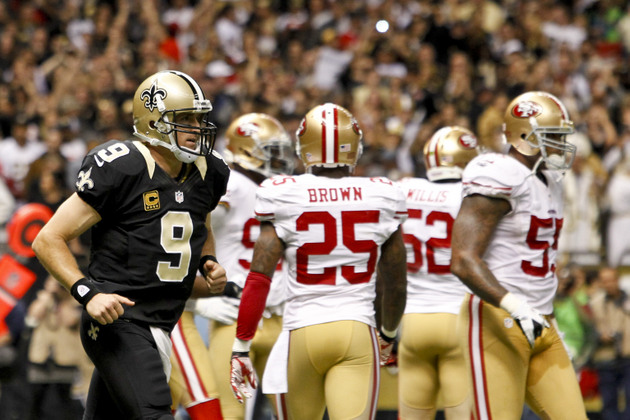 49ers return two Drew Brees interceptions for touchdowns
