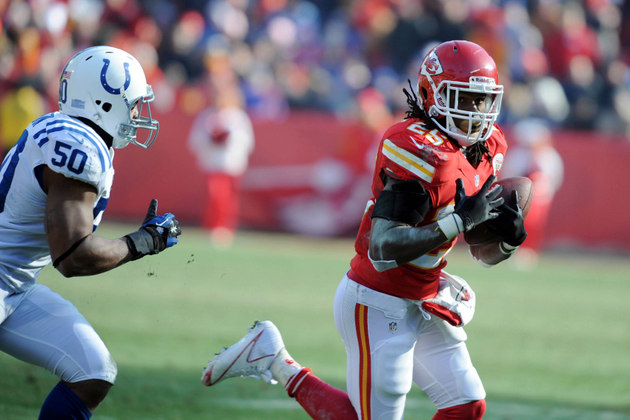 Jamaal Charles breaks an 86-yard touchdown; continues to be Chi…