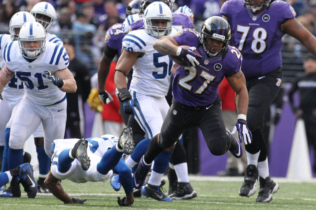 Ray Rice's open-field brilliance leads to the Ravens' first tou…