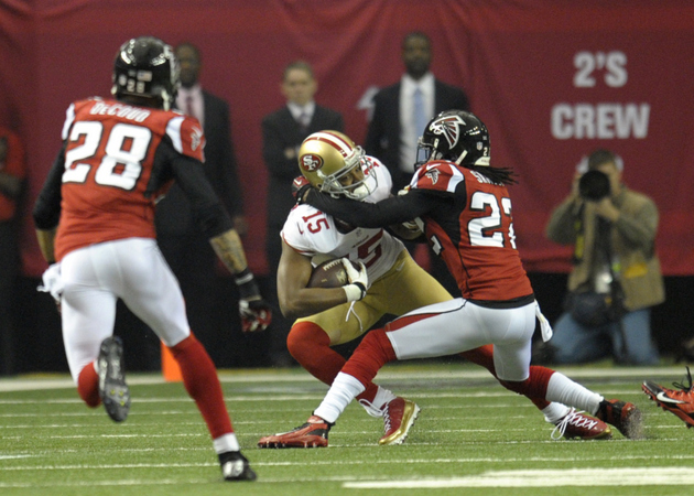 Falcons defense dominates the first quarter against Colin Kaepe…