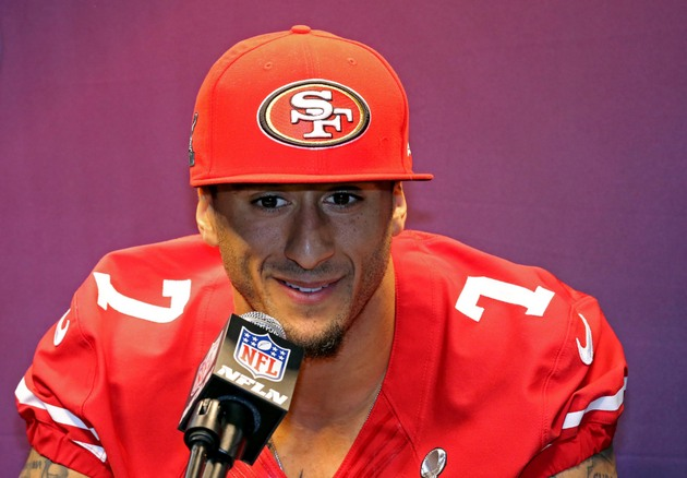 Colin Kaepernick sticks to his Super Bowl plan at media day by …