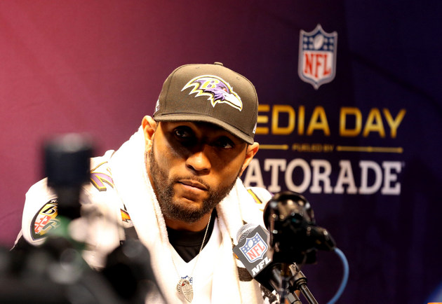 Ray Lewis doesn't wish to discuss deer-antler spray at media da…