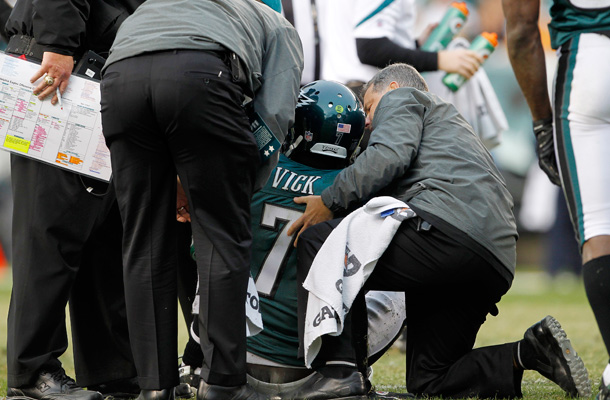 In other fake news, Michael Vick breaks both his legs
